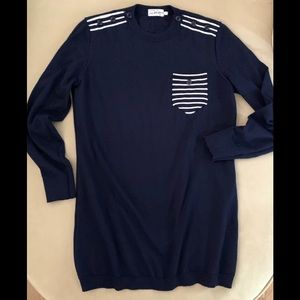 SAKS FIFTH AVENUE Cashmere/Wool Navy Sweater
